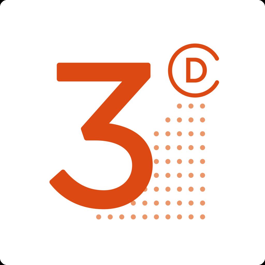 Drie Dingen Logo Blok Wit